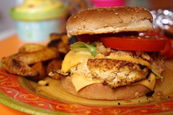 Burger Tofu pané & Sauce Cajun