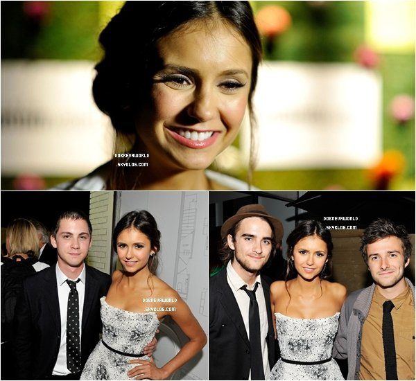 08/09/12 - Nina était  à l'avant-première de The Perks of Being a Wallflower au festival de Toronto.