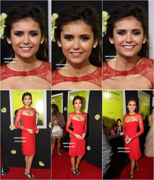 10/09/12 - Notre jolie Nina était à l'avant-première de The Perks of Being a Wallflower à Los Angeles.
