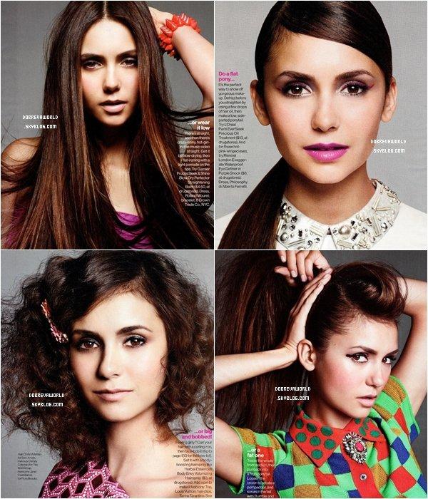 03/09/12 - Nina a posé pour le magasine Glamour du mois de Novembre.