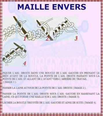tricoter maille envers
