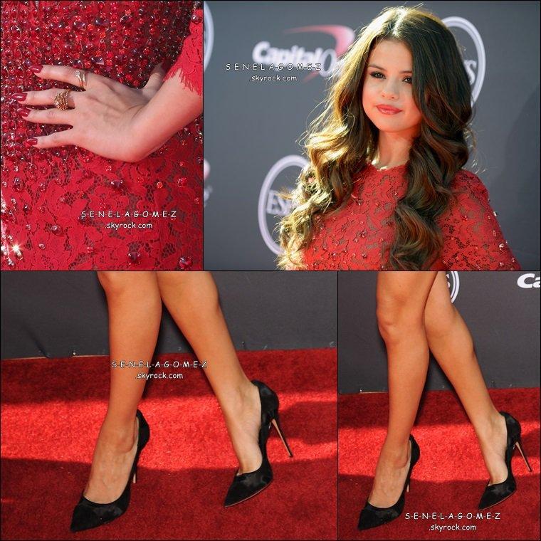 Arrivé de Selena Gomez le 17/07 au ESPY AWARDS.
