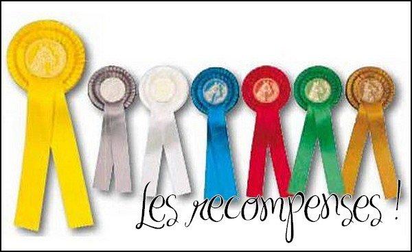 Les recompenses du concours n°1 !
