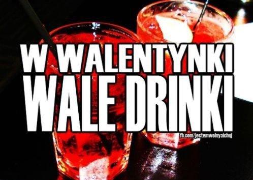 On Valentine's Day drink drinks