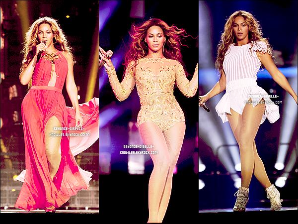 .  19/04/13 : Queen Bey casse la baraque avec sa tournée The Mrs. Carter Show World Tour à Brastilava !  C'est une Beyoncé enflammée qui a donné son 3e concert de sa tournée mondiale, elle était magnifique!  .