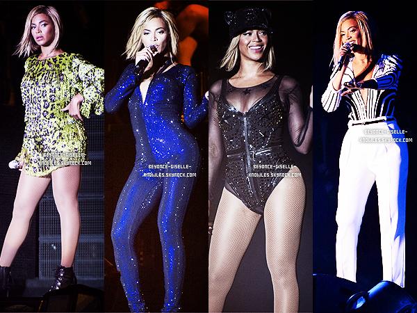 .  17/08/13 : Beyoncé, arborant une nouvelle tête, enflamme le V Festival au Royaume-Uni !  Elle était tout simplement magnifique ! Aimez-vous sa nouvelle tête? Que pensez-vous de ses costumes de scène? Top, bof ou flop?  .