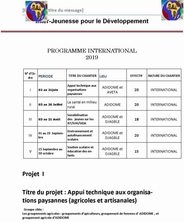 Recherche volontaires pour camp chantiers été 2019 au Togo