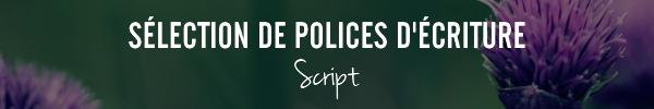 Sélection de polices d'écriture Script