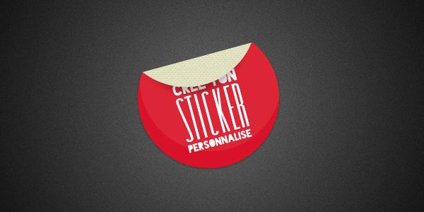 Sticker rond textuel et coloré