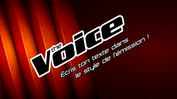 Texte effet The Voice simple avec Photoscape