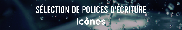 Sélection de polices d'écriture Icônes