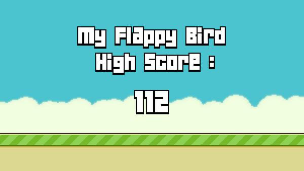 """Texte façon """"Flappy Bird"""""""