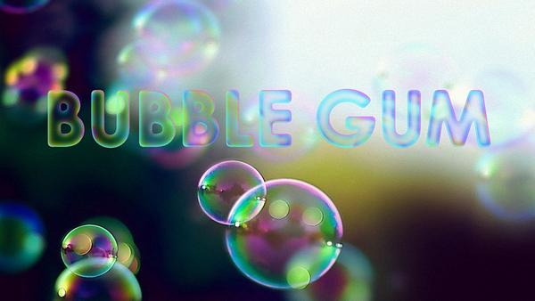 Texte en bulles de savon