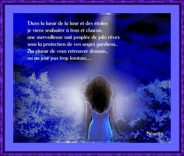 Dans la lueur de la lune ...........