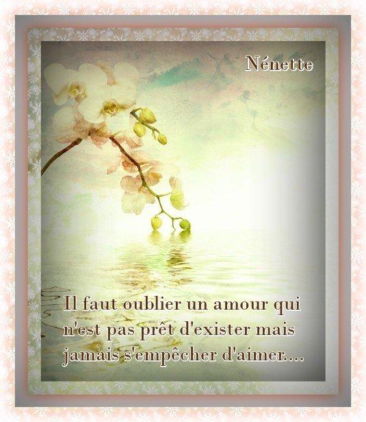 Il faut oublier un Amour...............