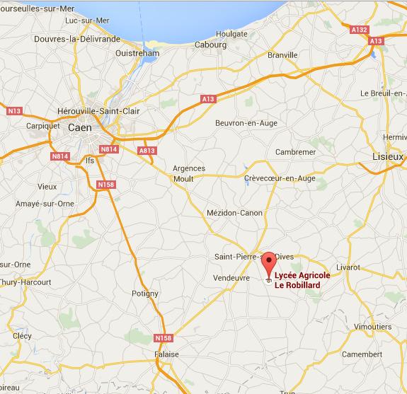 Localisation du lycée agricole Le Robillard