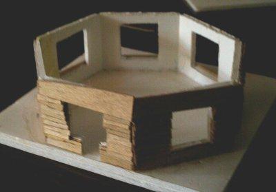 Construction d'un pavillon brasserie à Moniat sur le réseau.