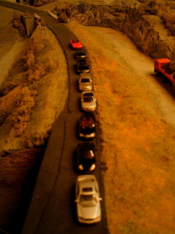 file de voitures