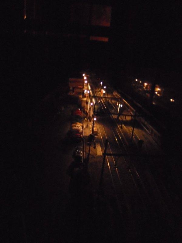 éclairage quai la nuit