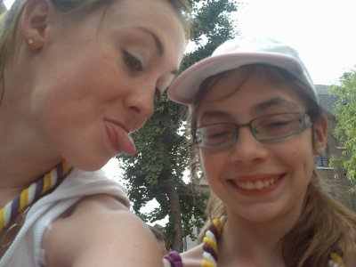 ma cousine hyac et ma soeur lara
