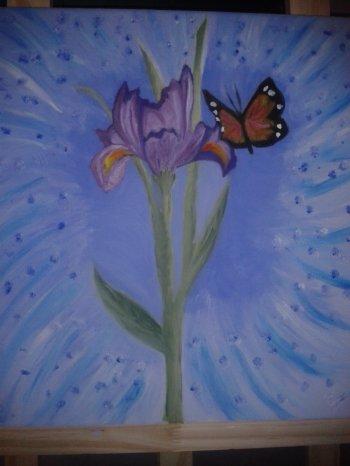 L'explosion de l'iris et de son papillon
