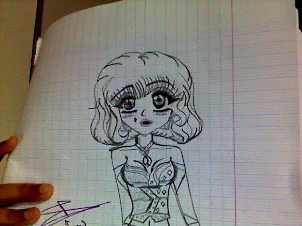 Mon dessin de débutante*enfin non heu oui*^^