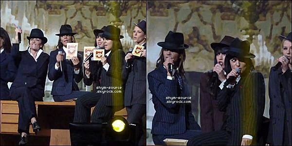 - 01-06 / 02 / 12 : Shy'm foule la scène de La Halle Tony Garnier à Lyon avec la troupe des Enfoirés .. -