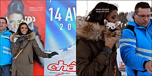 - 18 / 01 / 12 : Shy'm lors de son passage à Châtel.   - +Elle sera en concert à Châtel le 14 Avril 2012 à partir de 20h pour réserver : @