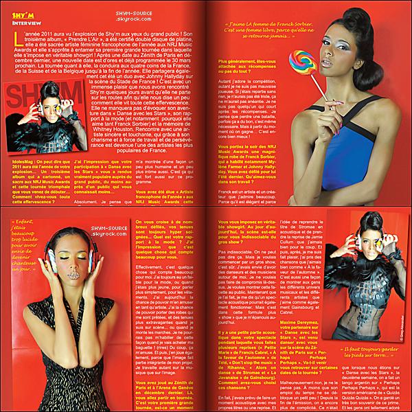 - MAGAZINE : Shy'm interviewer par le magazine IdolesMag -