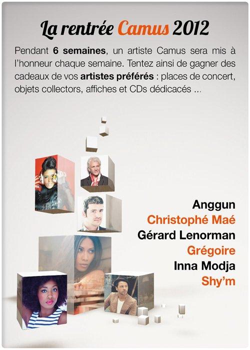 Camus Productions a créé un concours pour les fans de Shy'M et vous avez jusqu'à jeudi (22h) pour y participer. A la clé : Un grand panneau dédicacé, deux places de concert (date au choix), une affiche de sa tournée dédicacée et un billet de son premier Zénith (collector !) également dédicacé !   Il vous suffit juste de cliquer sur l'image pour accéder à la partie concours sur le facebook de Camus Productions, de participer en vous y inscrivant et ensuite, vous recevrez un mail, je pense jeudi à la fin du concours, pour savoir si vous êtes l'heureux/se élu/e du concours. Voilà alors foncez et allez vous inscrire au plus vite !! Et je vous souhaite à tous et à toutes BONNE CHANCE ! r]- CONCOURS : Camus Productions a créé un concours pour les fans de Shy'M et vous avez jusqu'à jeudi (22h) pour y participer. A la clé : Un grand panneau dédicacé, deux places de concert (date au choix), une affiche de sa tournée dédicacée et un billet de son premier Zénith (collector !) également dédicacé !   Il vous suffit juste de cliquer sur l'image pour accéder à la partie concours sur le facebook de Camus Productions, de participer en vous y inscrivant et ensuite, vous recevrez un mail, je pense jeudi à la fin du concours, pour savoir si vous êtes l'heureux/se élu/e du concours. Voilà alors foncez et allez vous inscrire au plus vite !! Et je vous souhaite à tous et à toutes BONNE CHANCE !