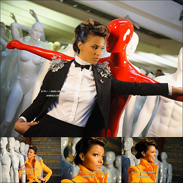 """- PHOTO : PhotoShoot de la belle Shy'm sur le tournage de """"Nec Plus Ultra"""" -"""