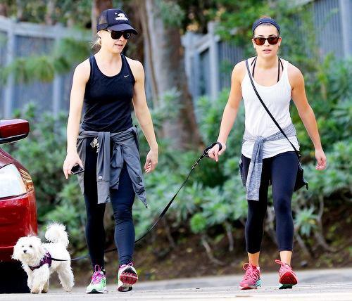 Lea et Becca ensemble hier  :)