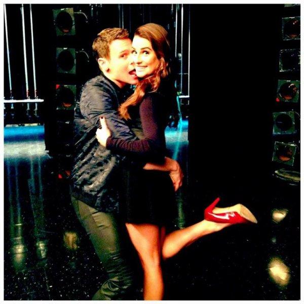 Jonathan et Lea sur le set :)