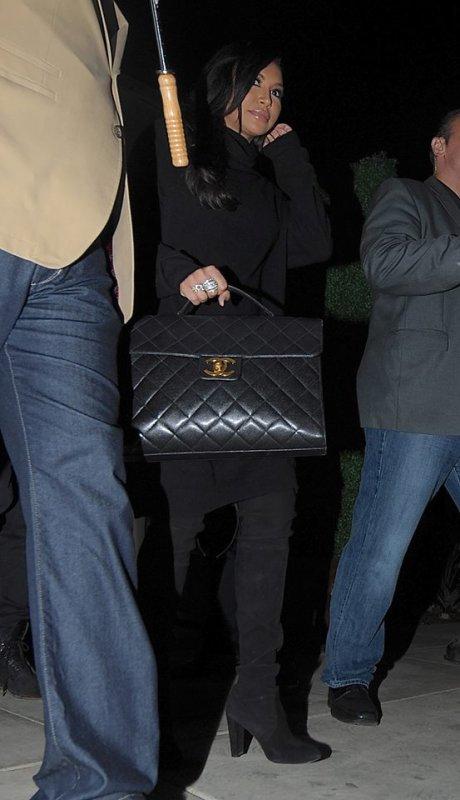 Naya et son mari vendredi soir à la sortie de la soirée Pré Oscars :)