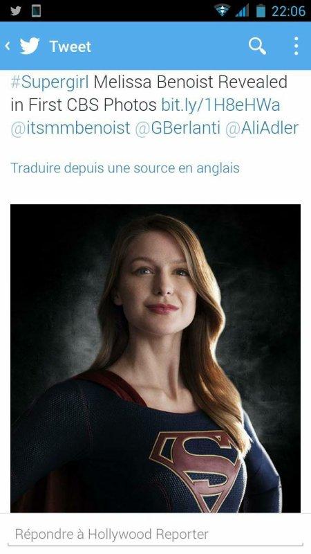 La première photo de Melissa en Supergirl  :)