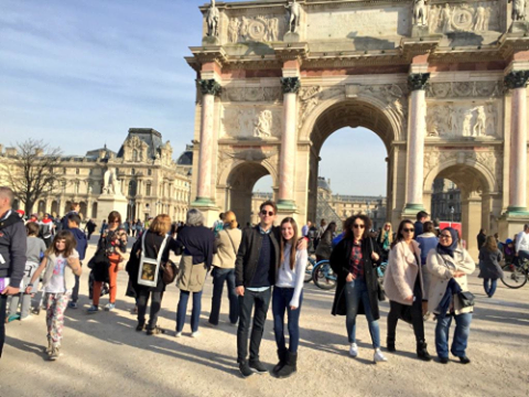 Kevin a passé le week end a Paris :D <3