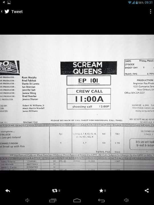 Le nom du personnage interprété par Lea dans Scream Queens est Brittany :)