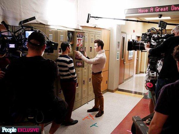 Sur le tournage du dernier épisode avec People Mag :) <3