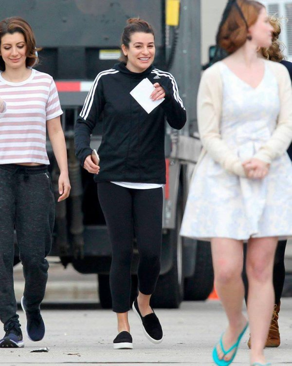 Lea sur le set de Scream Queens hier :)