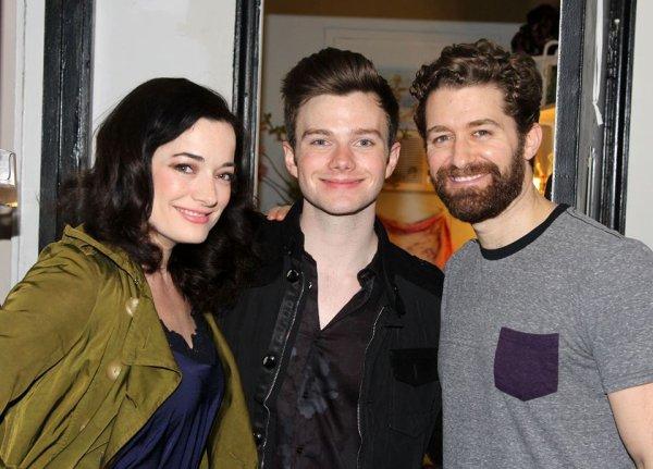 Chris avec Matthew Morrison dans les coulisses de Finding Neverland, la comédie musicale dans laquelle joue Matthew à Broadway :)