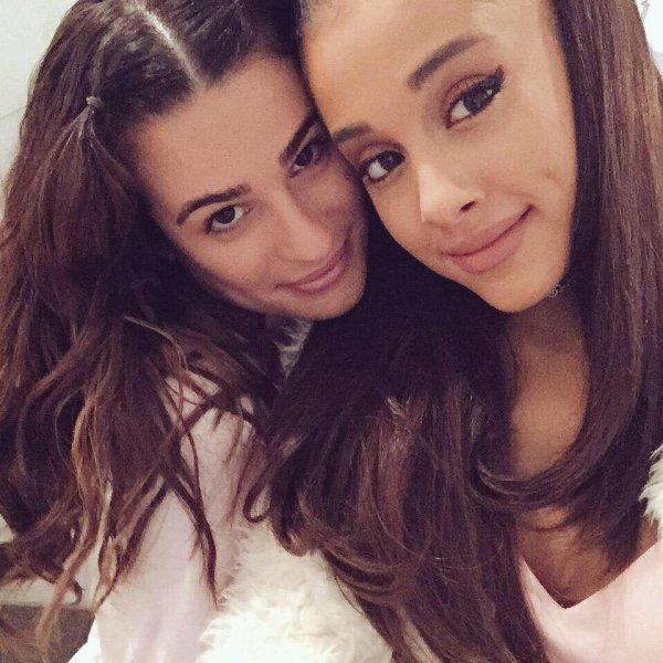 Lea et Ariana sur le set de Scream Queens :)