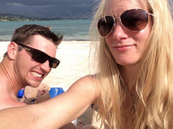 Heather profite de sa lune de miel avec son mari au soleil :) <3