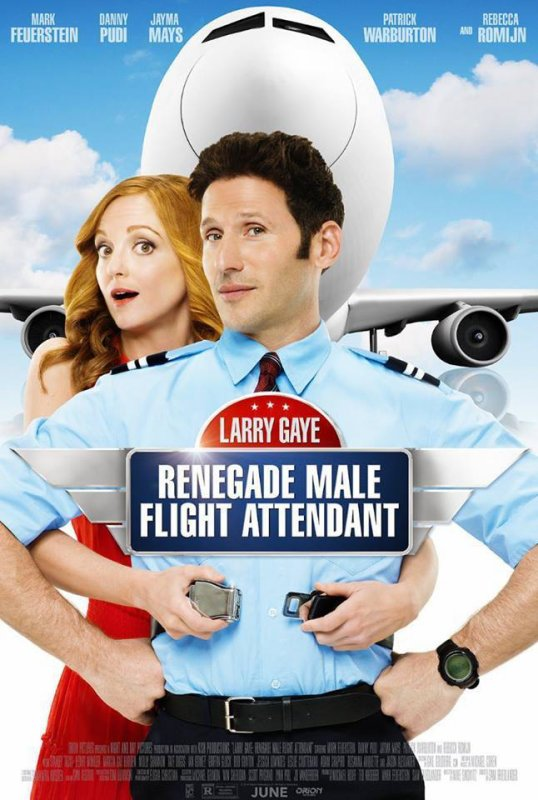 Affiche officielle de Larry Gaye  Renegade Male Flight Attendant le nouveau film avec Jayma :)