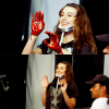 Lea dans le BTS du photoshoot promotionnelle de Scream Queens :)
