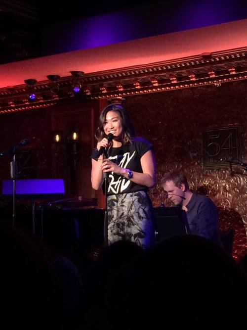 Jenna était en début de semaine dernière au 54 Below pour la reunion du Cast de Spring Awakenig :)