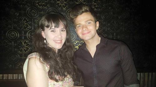 Chris s'était rendu à la fête de promotion du nouvel album d'Adam Lamber :)