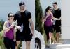 Lea et Matthew hier partant de la salle de sport ROMMEY à la Nouvelle-Orléans après une séance d'entraînement. dimanche :)