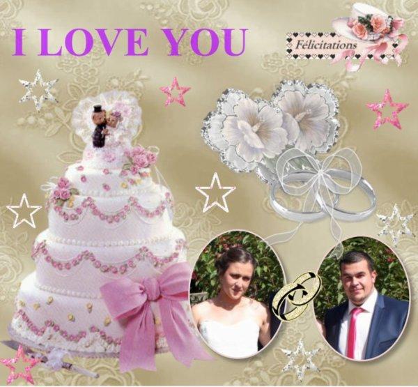 Le mariage de ma fille Audrey, montage de mon amie sylvie166