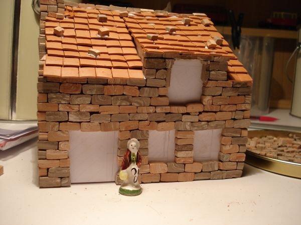 Ma creche de noel maison suite realisation de maquette au 1 87 - Fabrication de maison pour creche de noel ...