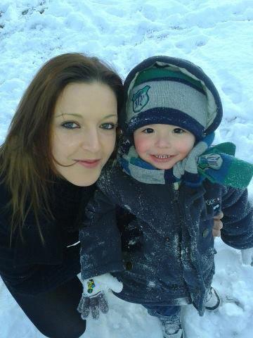 ma demi soeur avec son neveu